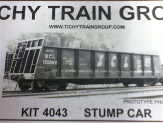 4043 HO TICHY Train Group Stump Car Kit
