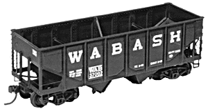 4029 HO Tichy Train Group Rebuilt Panel Side 36' USRA 2-Bay Open Steel Hopper-Undecorated (Plastic kit)