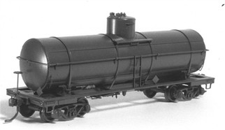 "4020 HO Tichy Train Group 36' 10,000 Gallon USRA Tank Car w/54"" Dome-Undecorated (Plastic Kit)"
