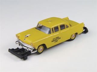 30434 HO Scale Classic Metal Works '55 Ford Mainline-RR Inspection w/Hy-Line RR Wheel