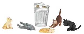 33157 Bachmann O Cats w/Garbage Can (6)
