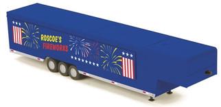 30-50072 O MTH RailKing Vendor Trailer-Roscoe's Fireworks
