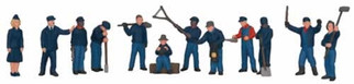 30-11044 O Scale MTH RailKing 12-Piece Figure Set #3-Railroad Employees
