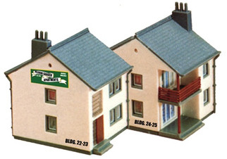 2612 Model Power N Scale Garden Apartment