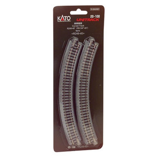 "20-100 Kato Unitrack N Scale  9-3/4"" Radius Curve 45 Degree (4)"