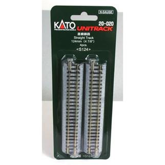 "20-020 Kato Unitrack N Scale  4-7/8"" Straight (4)"