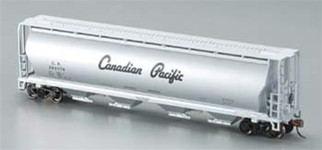 19142 Bachmann HO 4-Bay Grain Hopper Canadian Pacific Silver
