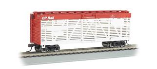 18527 HO Bachmann 40' Stock Car-C.P. Rail