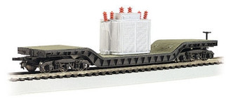 18348 HO Bachmann 52' Center Depressed Flat Car w/Transformer