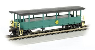 17445 Bachmann HO Open-Sided Excursion Car with Seats