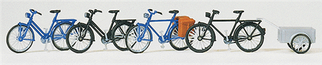 17161 HO Preiser Bicycles with Trailer Kit (4)