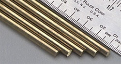 "166 K&S Engineering Solid Brass Rod 3/16"" (1)"