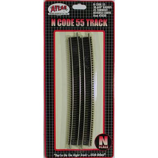 "2030 Atlas N Scale Code 55 Track 30.609"" Radius Full Section (6 pcs/pk)"