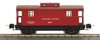 11-70029 Lionel by MTH 2817 Series O Gauge Caboose - Red & Brown (Rubber Stamped)