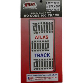 "0825 Atlas HO Code 100 1 1/2"" Straight Track (4)"