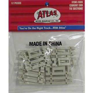 0599 Atlas HO Code-83 Concrete Flex-Track End Ties