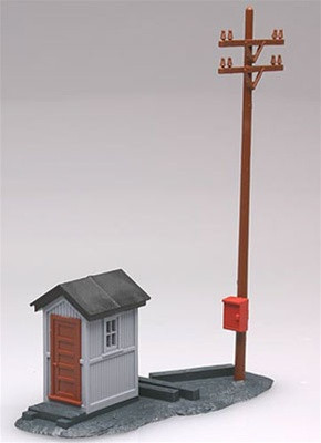 0705 Atlas HO Telephone Shanty and Pole Kit