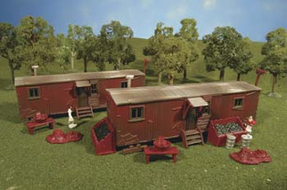 45175 HO Scale Bachmann Railroad Work Sheds (2 Per Box) Kit
