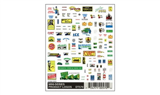 DT570 Woodland Scenics Dry Transfer Decals Mini-Series Product Logos