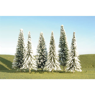 "32102 Bachmann Scenescapes Pine Trees w/Snow 3-4""(9)"