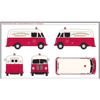 30432 HO Scale Classic Metal Works IH Metro Delivery Van-Fire Emergency