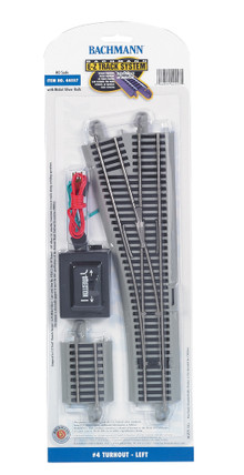 44557 HO Scale Bachmann E-Z Track #4 Turnout-Left