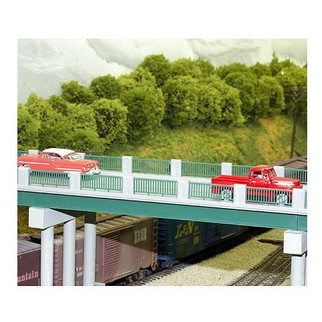 628-0121 HO Scale Rix Products Wrought Iron Highway Overpass Kit