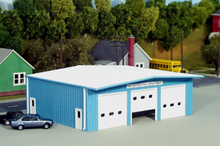 541-0019 HO Scale Pikestuff Fire Station Kit