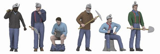 30-11058 O Scale MTH RailKing 6-Piece Figure Set #6-Miners