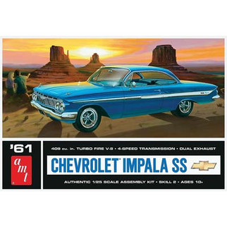 AMT1013 AMT '61 Chevrolet Impala SS 1/25 Scale Plastic Model Kit