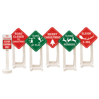 6-37185 O Scale Lionel Christmas Railroad Signs