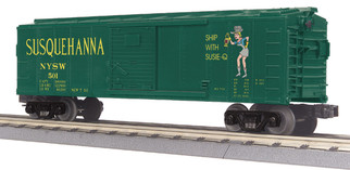 30-74870 O Scale MTH RailKing Box Car-Susquehanna