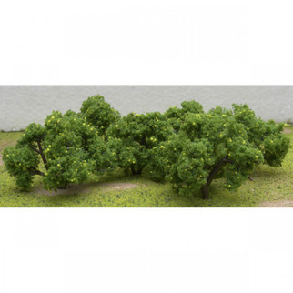 "92123 HO Scale JTT Scenery Lemon Tree Grove 6pk 2""-2 1/4"" Tall"