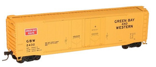 5412 HO Scale Accurail 50' Double Plug Door Boxcar Kit-Green Bay & Western