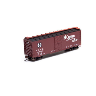 "73505 HO Scale Athearn 40' Box Car-Santa Fe ""El Capitan"" #143780"
