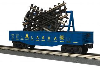 30-72187 O Scale MTH RailKing Gondola Car w/45 Degree Crossover-Alaska
