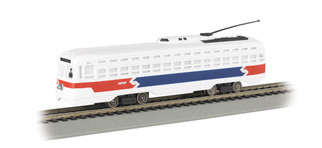 62937 HO Scale Bachmann PCC Street Car-Philadelphia Septa(Red, White, Blue)