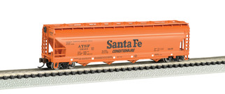 17551 N Scale Bachmann 4-Bay 56' ACF Center Flow Hopper-Santa Fe