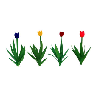"95555 O Scale JTT Scenery Tulips 1"" Tall Variety Color Assortment 36/pk"
