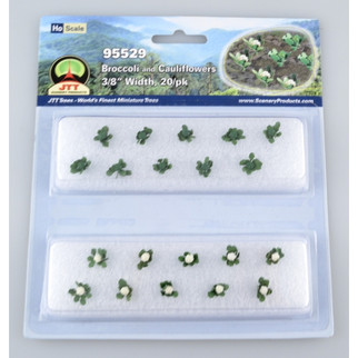 95529 HO Scale JTT Scenery Broccoli and Cauliflowers Green and White 20/pk