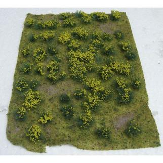 """95605 JTT Scenery Landscape Detailing Flowering Meadow Yellow 5"""" X 7"""""""