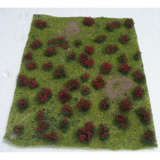 """95604 JTT Scenery Landscape detailing Flowering Meadow Red 5"""" X 7"""""""