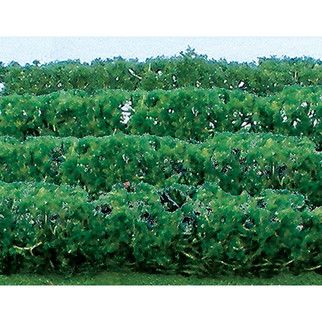 "95515 HO Scale JTT Scenery Green Hedges 5"" X 3/8"" X 5/8"", 8/pk"
