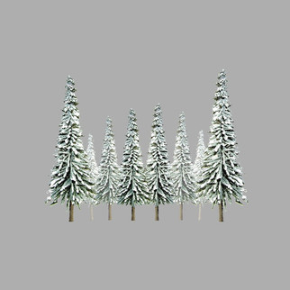 "92007 HO Scale JTT Scenery Snow Spruce 4"" to 6"" High 24/pk"