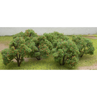 "92121 HO Scale JTT Scenery Orange Tree Grove 2"" to 2 1/4"" Tall 6/pk"
