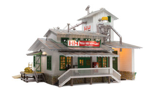 BR5859 O Scale Woodland Scenics H&H Feed Mill