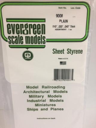 9008 Evergreen White Sheet Assortment Plain