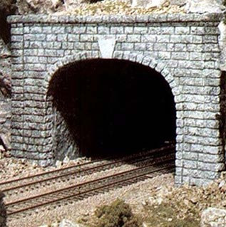 C1257 Woodland Scenics HO Scale Cut Stone Portal  Double Track (1 each) Tunnel Portal