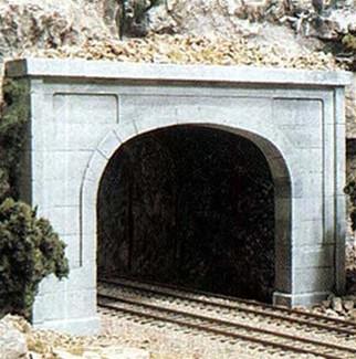 C1256 Woodland Scenics HO Scale Concrete Double Tunnel Portal(1 each)