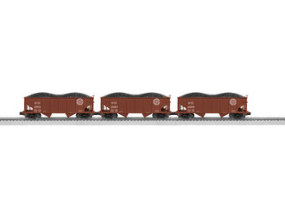 6-84141 O Scale Lionel Western Maryland USRA 2-Bay Hopper 3-Pack #1